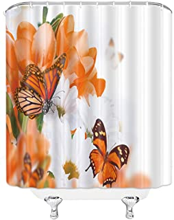 Best orange bathroom shower curtains Reviews