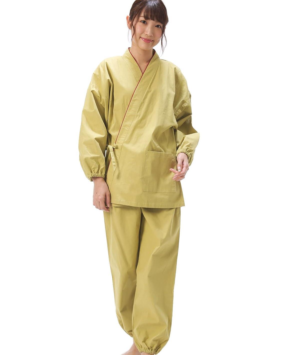 隙間バスケットボール食欲Nishiki(ニシキ) 作務衣 上下セット レディース 綿100% しじら織り【M/L/LLサイズ】