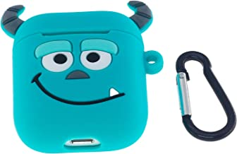 Cute AirPods Case, ifctn Shockproof Protective 3D Silicone Cartoon Monster Airpods Case Cover Compatible with Apple Airpods Charging Case Cover 1&2 (Binocular)