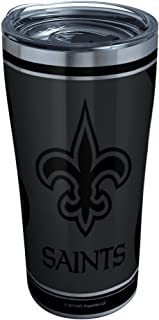 Tervis 1332197 NFL 100-New Orleans Saints Stainless Steel Insulated Tumbler with Clear and Black Hammer Lid, 20 oz, Silver...