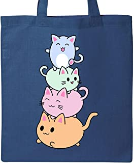 Inktastic Kawaii Kitten Stack Tote Bag