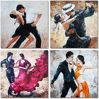 Framed Wall Art Tango Decorative Art Poster Print Romance Passion Dancing Fine Art for Bedroom Bar Decorations