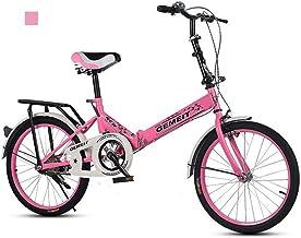 B-D Bicicletas Plegables De 20 Pulgadas Bicicleta Plegable Urbana Ligera para Mujer, Marco De Acero De Alto Carbono, Micro Bike Unisex para Estudiantes Y Oficinistas, 6 Opciones De Color