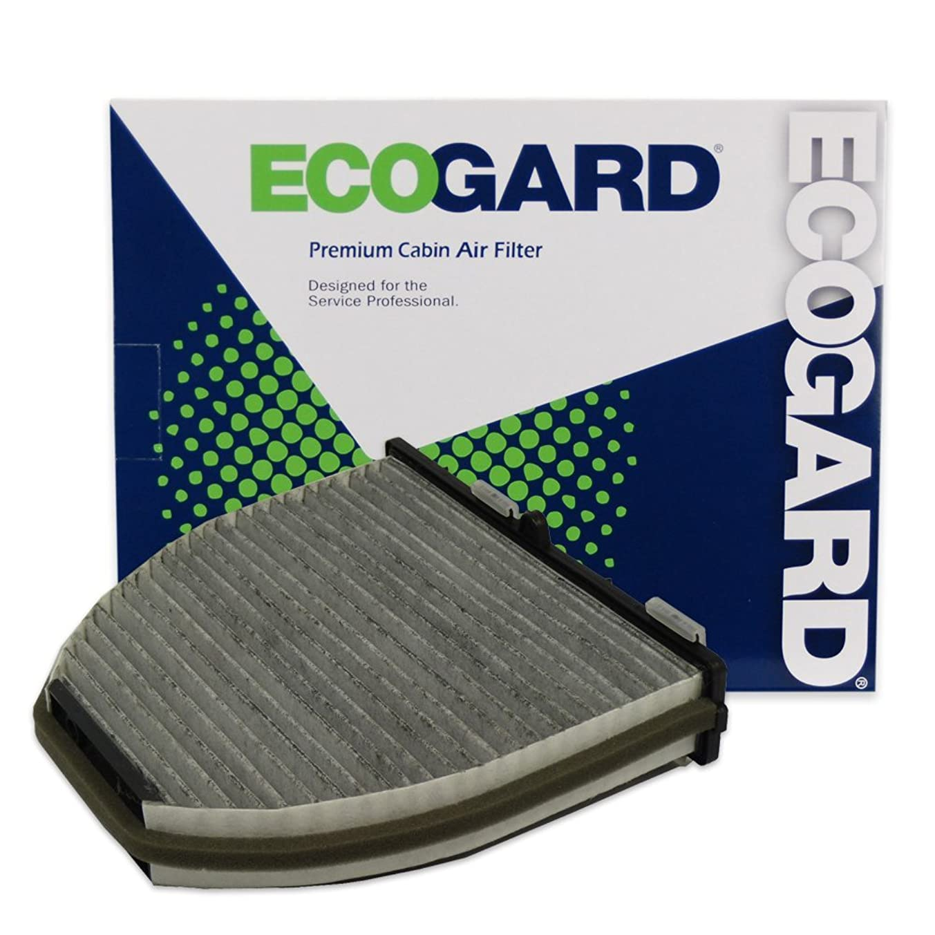 ECOGARD XC45844C Cabin Air Filter with Activated Carbon Odor Eliminator - Premium Replacement Fits Mercedes-Benz E350, C300, GLK350, C250, C350, E550, E400, CLS550, GLK250, SL550, CLS400, C63 AMG