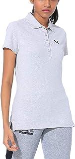 Puma Women's Plain Regular fit Polo (58209324_Light Gray Heather XXS)