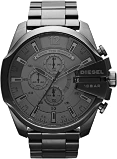 Diesel Men's Mega Chief Quartz Stainless Steel Chronograph Watch, Color: Grey (Model: DZ4282)