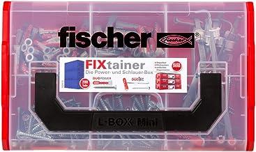 fischer Fixtainer DUOPOWER/DUOTEC Power- en slangbox met 200 delen, universele pluggen, kantelpluggen + schroeven, praktis...
