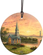 Trend Setters Thomas Kinkade Sunrise Chapel Starfire Prints Hanging Glass