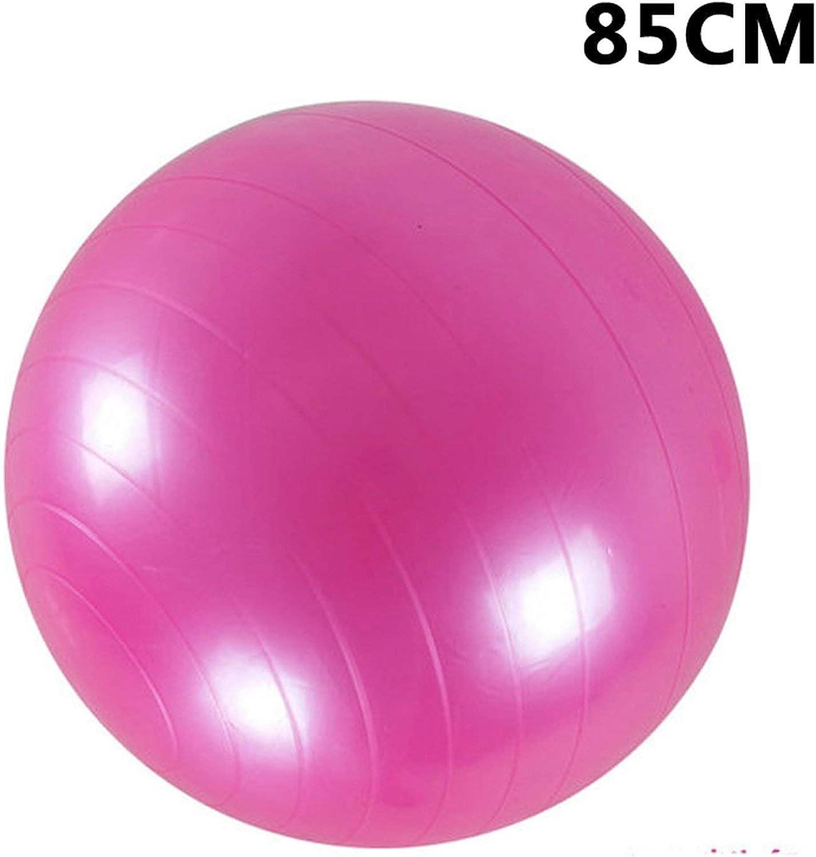 Sports Yoga Balls Bola Pilates Fitness Gym Balance Fitball Exercise Pilates Workout Massage Ball 45cm 55cm 65cm 75cm,85CM Pink