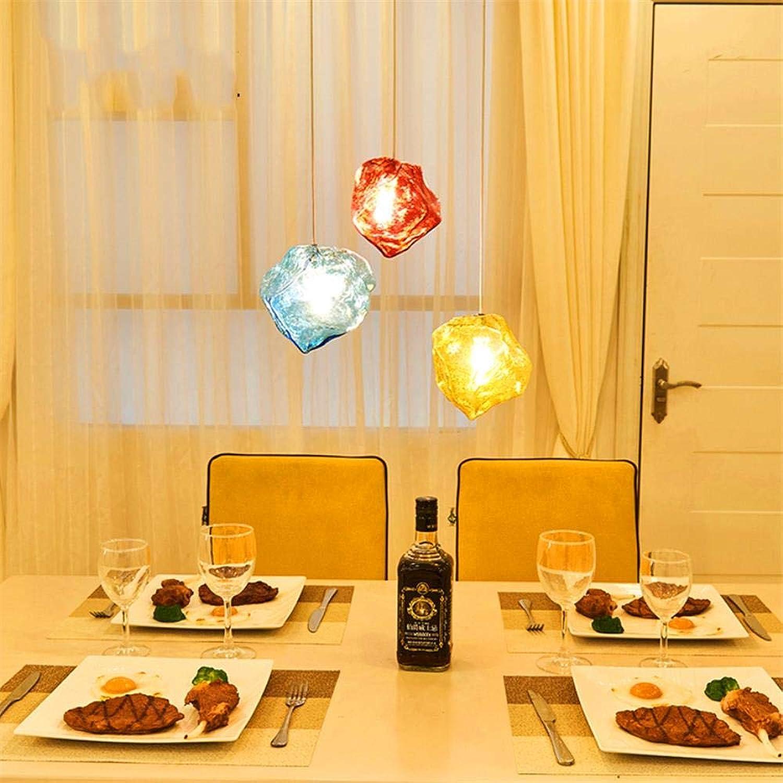 Moderne Lampe Loft Hngelampe Glas Pendelleuchten LED Pendelleuchten Küche Restaurant Bar Wohnzimmer Schlafzimmer Küchenarmaturen, Blau 1 Kopf