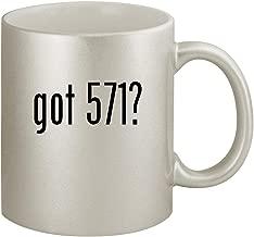 got 571? - Ceramic 11oz Silver Coffee Mug, Silver