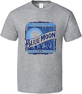 Blue Moon Wheat Ale Belgian Beer Ale Lover Cool Worn Look T Shirt 2XL Sport Grey