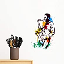 DIYthinker Watercolor Street Man Rock Music Painting Removable Wall Sticker Art Decals Mural DIY Wallpaper for Room Decal ...