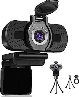 Dericam Cámara Web 1080P con micrófono, cámara Web USB para computadora, cámara para computadora Plug and Play para PC/Mac...