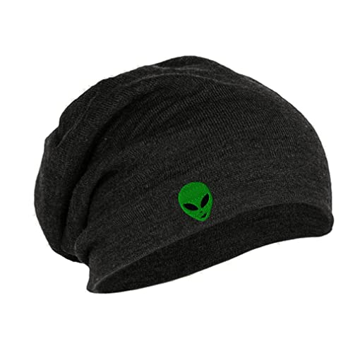 deccfd8494904a Speedy Pros Green Happy Alien Face Embroidered Unisex Acrylic Slouch Beanie,  One Size