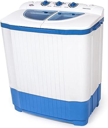 Blau Mit Fu/ßPedal Motion Fitness Ohne Elektronische Stromversorgung F/üR Camping Haushalt Wohnheim GYLJJ Mini Waschmaschine