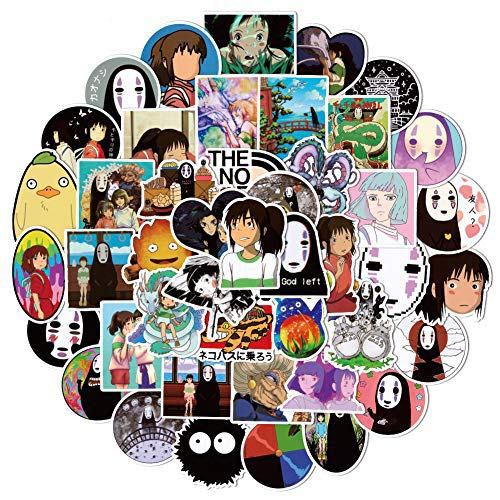 50pcs Spirited Away Anime Cartoon Laptop Stickers Waterproof for Snowboard Motorcycle Bicycle Phone Computer DIY Keyboard Car Window Bumper Wall Luggage Decal Graffiti Patches