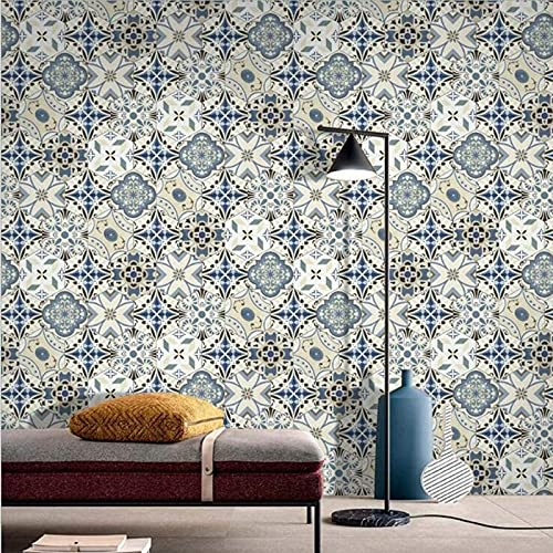 aipipl Pegatinas de Transferencia de Azulejos Estilo Mosaico baño Cocina Palo en la Pared azulejo despegar y Pegar Retro de Moda - Diseños hexagonales Retro marroquí Tradicional, 20cm5m