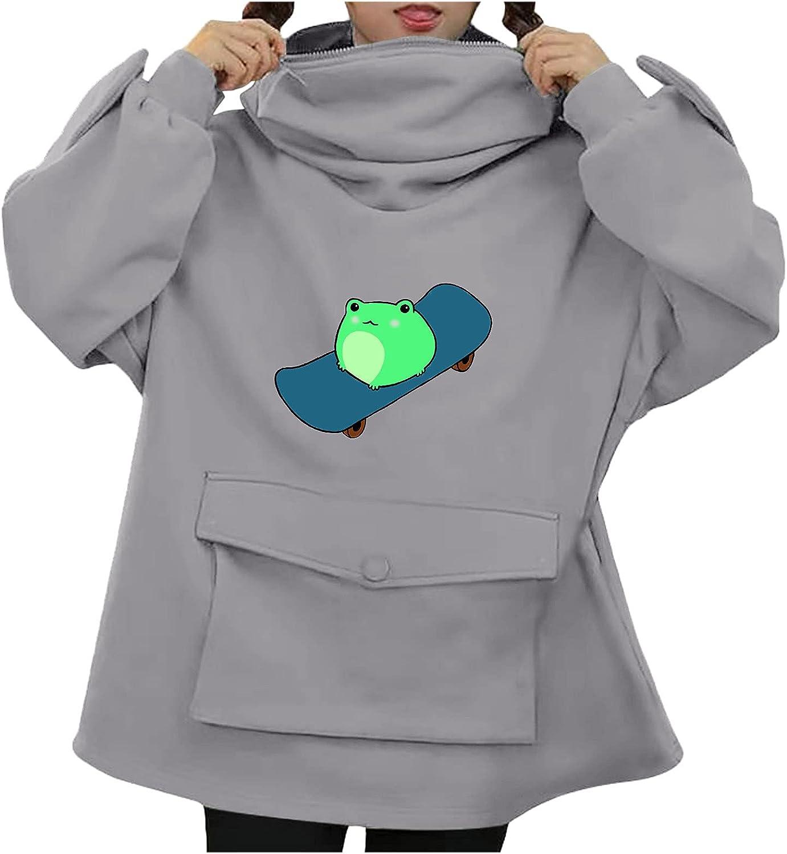Lovor Cute Sweatshirt for Womens Teens Girls Animal Cosplay Hoody Tops Anime Hoodie Kawaii Jumper Comfy Sweater