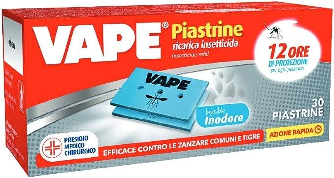 189 opinioni per Vape Piastrine Invisible, Protezione contro le Zanzare, Inodore, fino a 12 Ore,
