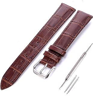 Piel Reloj de pulsera, cierre rápido para banda Watch Pulsera para Hombre Mujer Con Acero Inoxidable Cierre 18mm 20mm 22mm