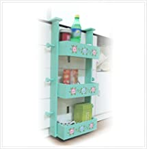 FEI Teng Painted Refrigerator Shelf/Refrigerator Side Wall Rack/Pastoral Wooden Kitchen Storage Shelves Refrigerator Racks