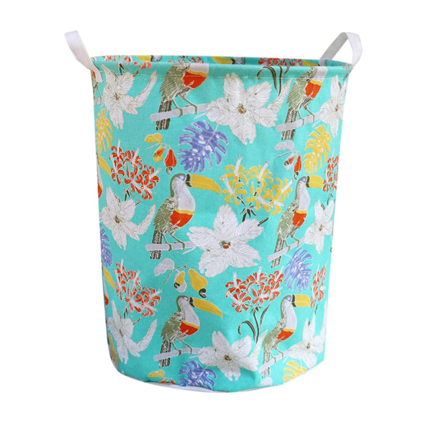 """Laundry Basket Bins,Amiley Waterproof Foldable Cotton Linen Laundry Hamper Bucket with Handles for Bathroom,Laundry Storage Baskets for Bedroom, Dorm, Laundry Hamper Bags, 15.7"""" x 19.7"""" (C)"""