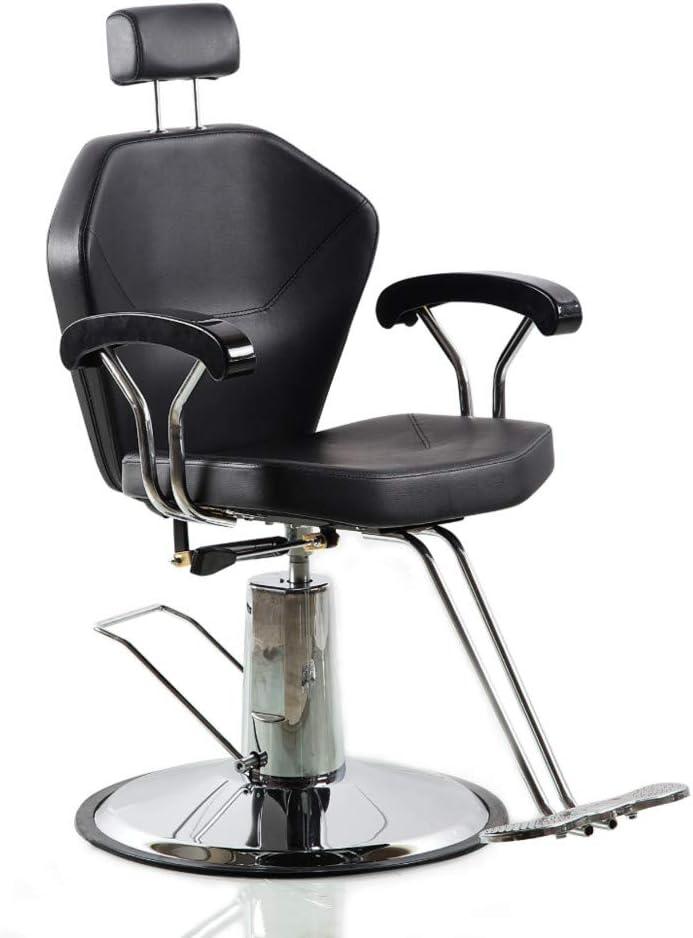 お気にいる Salon Style Black 捧呈 Round Base 360 Rolling Swivel C Barber Degrees