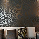 HANMERO® Murales Decorativos Pared Papel Pintado Rayas no Tejido Papel de Pared...