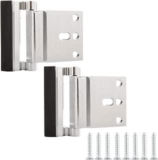 AmazonBasics Door Reinforcement Lock - 2-Pack, Brushed Nickel