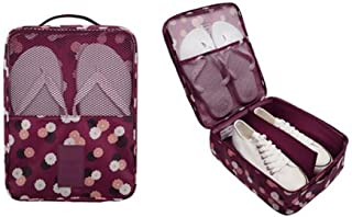 1PC Fashion Travel Portable Shoe Bags Multicolor Storage Organizer Bag for Men Women (Purple)