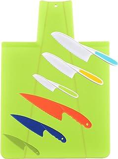 Tallgoo Couteau De Cuisine Kids,Couteaux de Cuisine pour Enfants,Couteaux à Légumes pour Enfants fruit, Gâteau, Pain, Cout...
