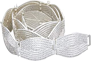 Decorative Belt Full Crystal Women Metal Wedding Waist Chains For Women Europe Vogue Female Rhinestone Belt Morocco Caftan Waistband