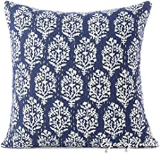 Eyes of India - 16 Indigo Blue Kantha Decorative Pillow Throw Sofa Cushion Cover Couch Colorful Boho Bohemian Indian Cover ONLY