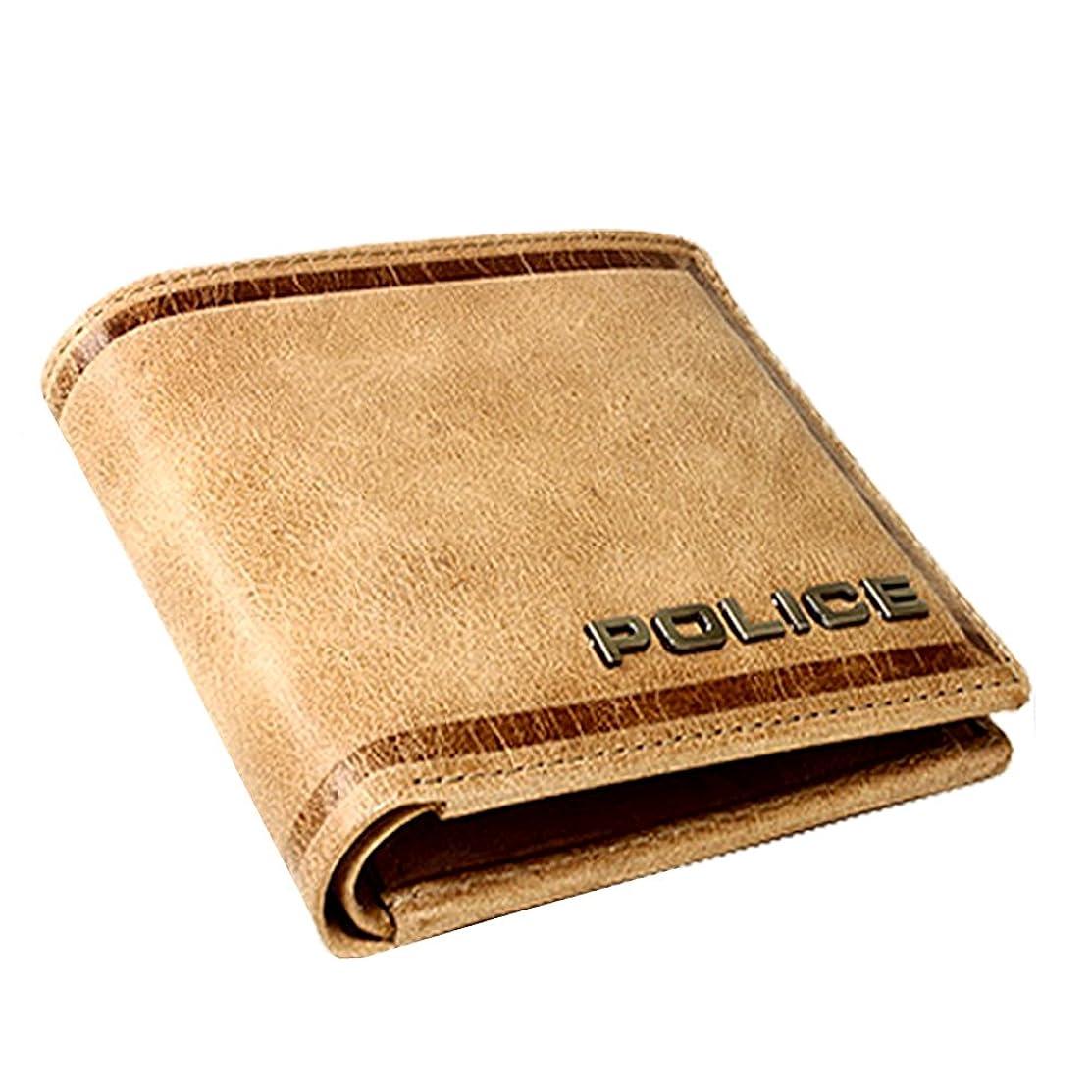熟読する応用交じるポリス POLICE 財布 牛革 二つ折り 折財布 メンズ レディース ウォレット レザー Wallet pa58000