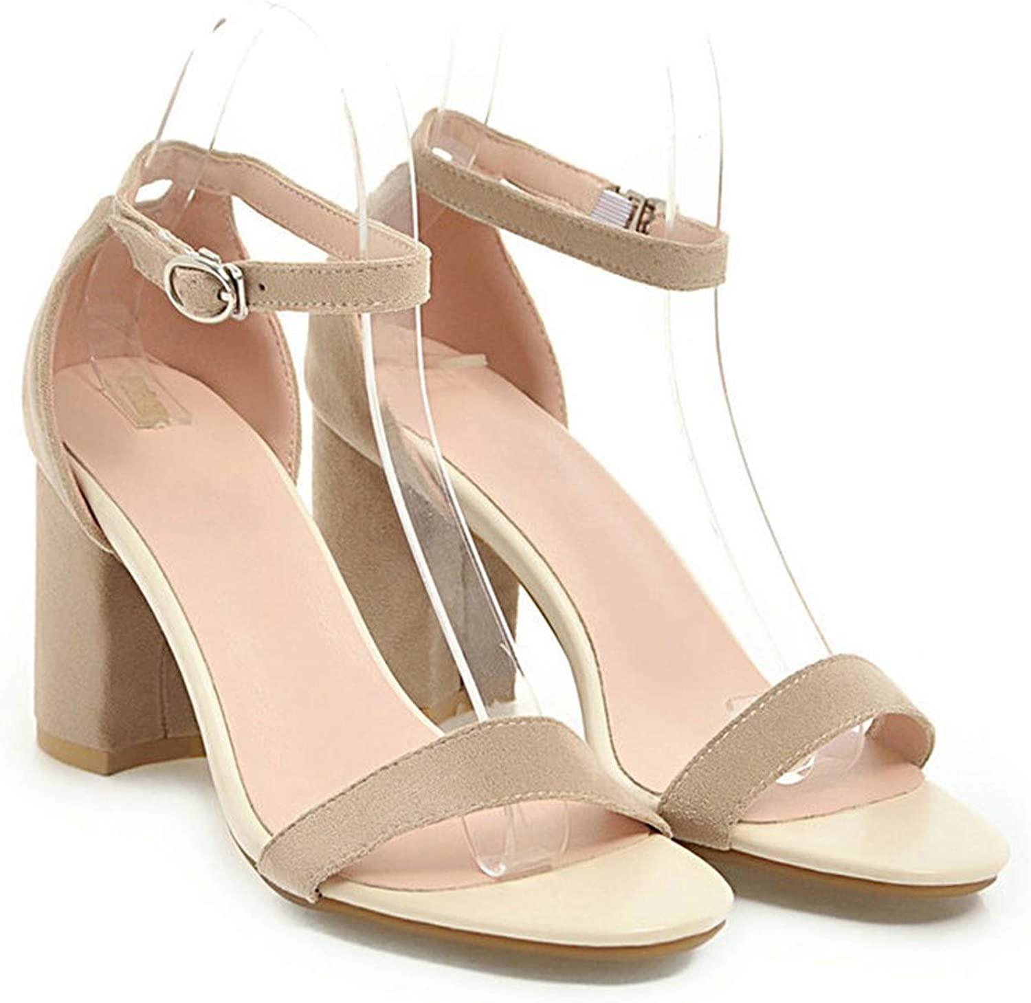 Shine-hearty Women Sandals Ankle Strappy Summer shoes Open Toe Chunky High Heels Sandals Party Dress Sandals