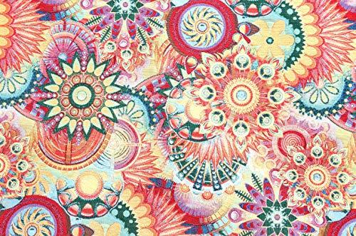 Stoffetraum Gobelin Premium 'Künsliches Mandala Blüten Ornament' Bund