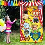 Karneval Toss Spiele mit 3 Bohne Tasche, Lustiges Karneval Spiel für Kinder und Erwachsene in Karneval Party Aktivitäten, Tolle Karneval Dekorationen und Lieferanten (Zirkus Tier)