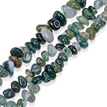 Top Quality Natural Moss Agate Gemstone Free Form 8-10mm Loose Stone Beads 15 Inch for Jewelry Craft Making GZ3-4