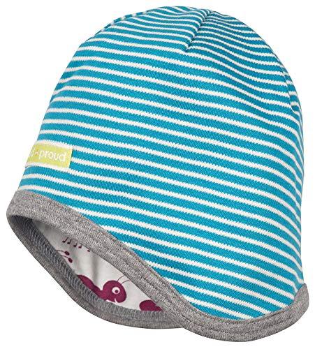 Loud + Proud Wendemütze Aus Bio Baumwolle, Gots Zertifiziert Bonnet, Bleu (Petrol PE), 41/43 (Taille Fabricant: 74/80) Mixte bébé