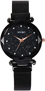💗DEESEE(TM) 💗MEIBO Women's Casual Quartz Stainless Steel Newv Strap Watch Analog Wrist Watch (F)