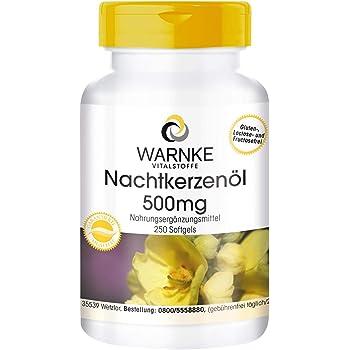 Olio di Enotera puro 500mg - Con Vitamina E naturale - Spremuto a freddo - 250 softgels