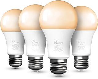 لامپ هوشمند ، لامپ LED سفید گرم / خنک ، با الکسا و دستیار Google کار می کند ، A19 E26 9W (معادل 60 وات) 800 لومن ، بدون توپی لازم است (4 بسته)