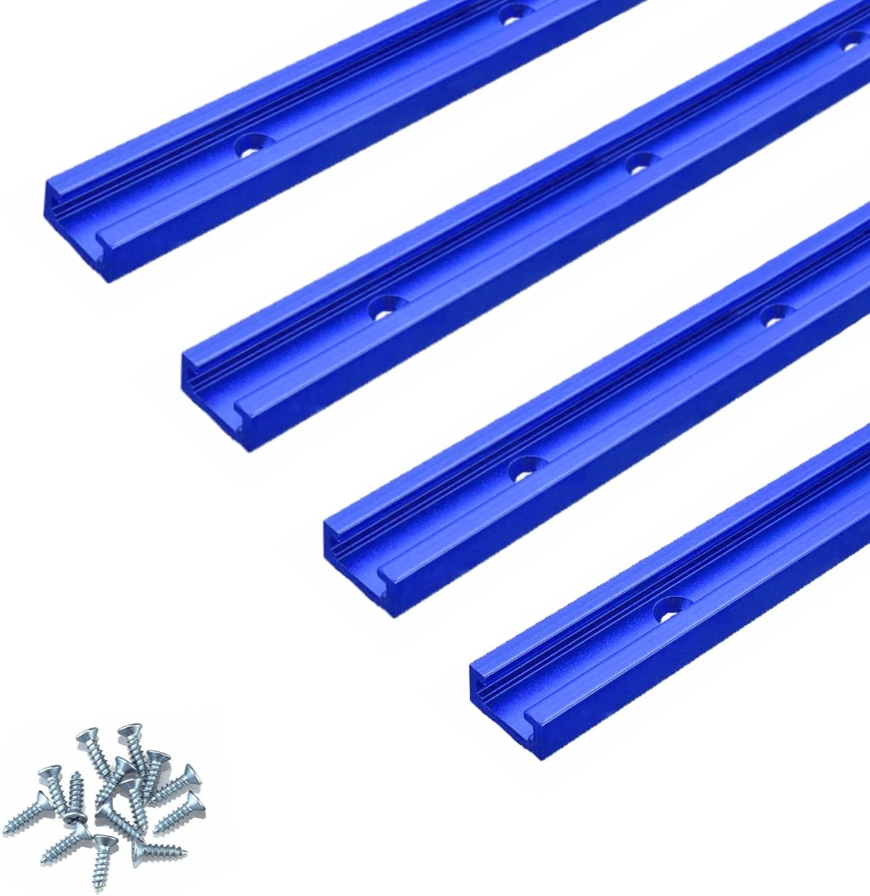 Now free shipping ZOKMOK 48'' T-Tracks for Woodworking 67% OFF of fixed price 4 Universa Predrilled Pack
