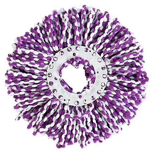 Viccilley Mop Head - Mop Spinning Mops Head Recambio de Microfibra Magic Rotating 360 ° Mop para Limpieza(púrpura)