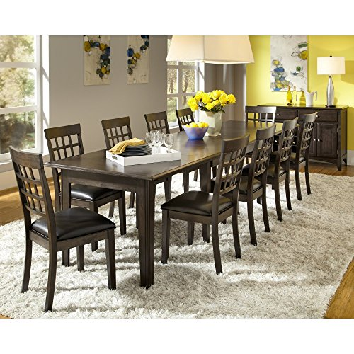 A-America Bristol Point 132' Rectangular Dining Table with (3) 24' Leaves, Warm Grey