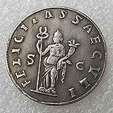 YunBest Moneda antigua antigua romana - Rey filósofo - Monedas del Imperio Romano - Monedas Romanas Antiguas -Moneda Conmemorativa de la suerte-Descubre la historia de las monedas BestShop