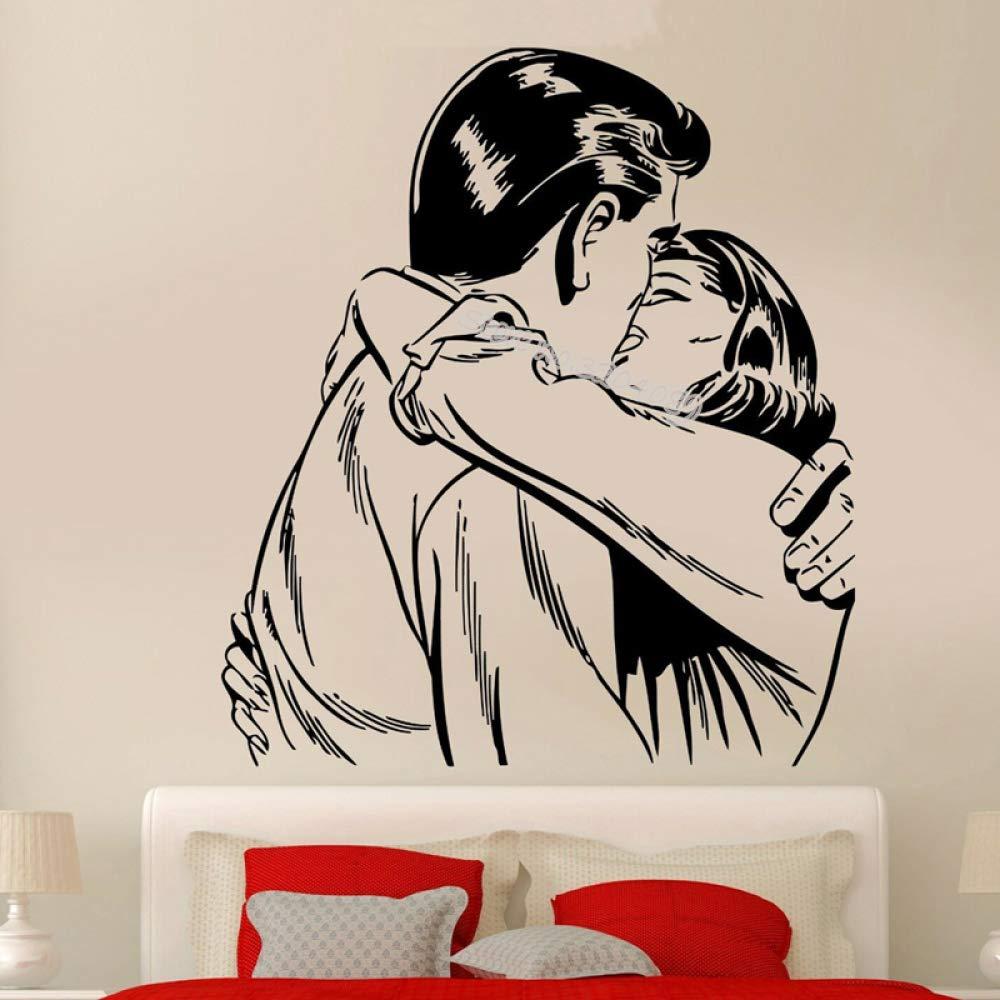 woyaofal Hombre besándose con Mujer Pareja Pegatinas de Pared romántica Amorosa decoración Moderna LY marriedcouple Dormitorio Mural Wallpaper e 110x124cm: Amazon.es: Hogar