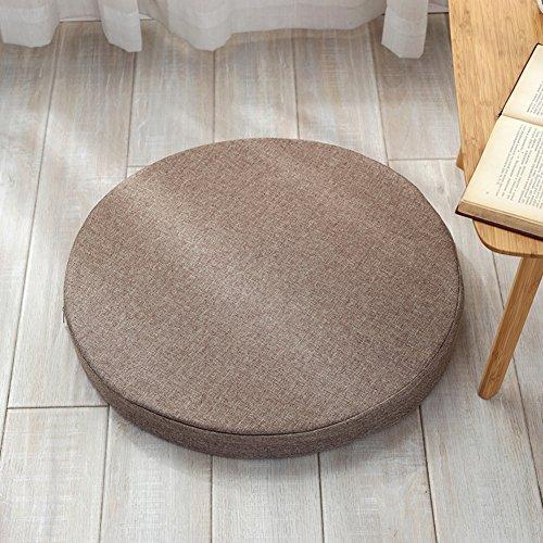 DENG&JQ Almohadilla de esponja de alta densidad para asiento de silla, cojín de ventana de bahía, cojín de sofá, grueso, no se deforma fácilmente, grosor de 5 cm, diámetro de 60 cm