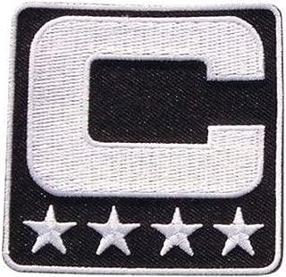 Black Captain C Patch Iron On for Jersey Football, Baseball. Soccer, Hockey, Lacrosse, Basketball